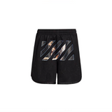 OFF-WHITE CARAVAGGIO ANGEL MESH SHORTS - BLACK