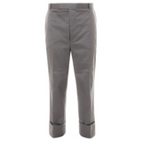 THOM BROWNE BELTLOOP STRAIGHT LEG TROUSER - MED GREY