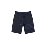THOM BROWNE CLASSIC SWEAT SHORTS IN TONAL 4 BAR LOOPBACK - NAVY