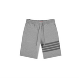 THOM BROWNE CLASSIC SWEAT SHORTS IN TONAL 4 BAR LOOPBACK - MED GREY