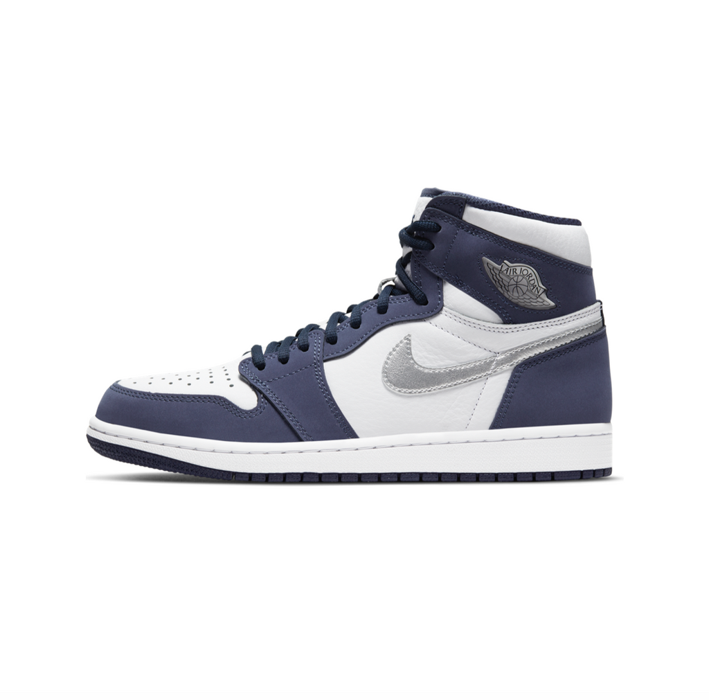 AIR JORDAN 1 HIGH OG CO.JP - WHITE/METALLIC SILVER-MIDNIGHT NAVY