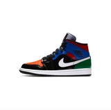 WOMEN'S AIR JORDAN 1 MID SE - BLACK/UNIVERSITY RED-HYPER ROYAL