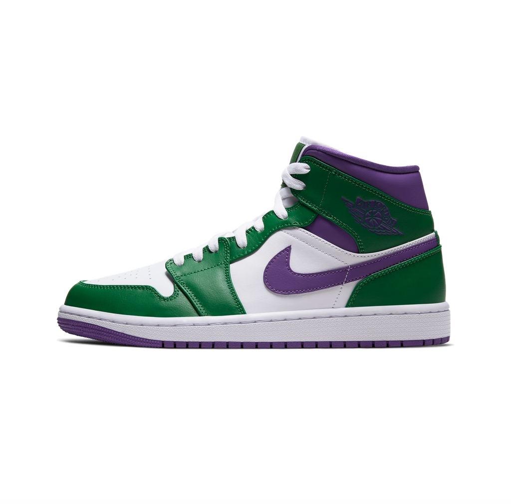 AIR JORDAN 1 MID -  ALOE VERDE/COURT PURPLE-WHITE