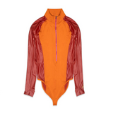 WOMEN'S AIR JORDAN COURT-TO-RUNWAY BODYSUIT -  RUSSET/RUGGED ORANGE