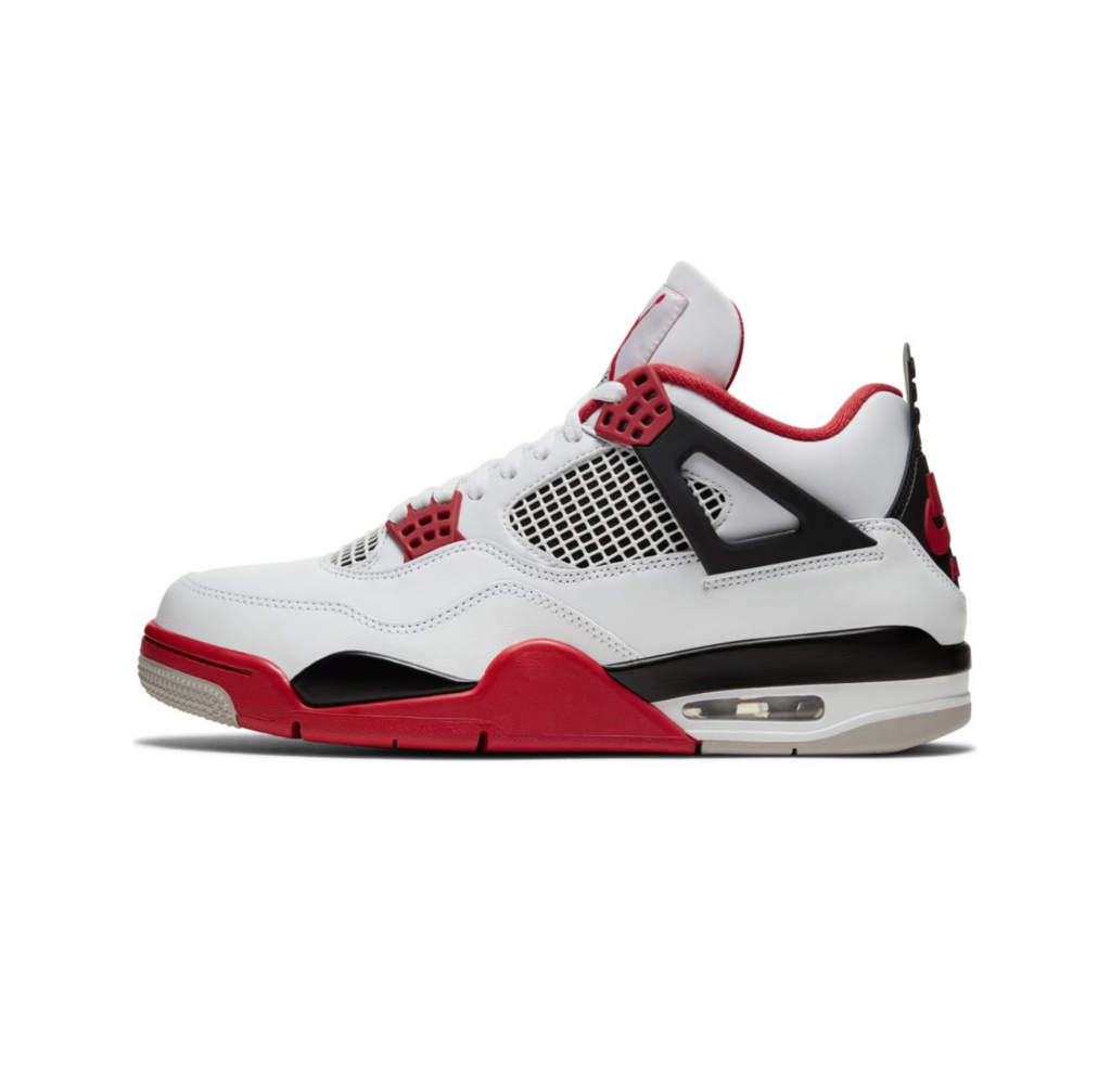 AIR JORDAN 4 RETRO - WHITE/FIRE RED-BLACK-TECH GREY