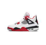 AIR JORDAN 4 RETRO GS - WHITE/FIRE RED-BLACK-TECH GREY