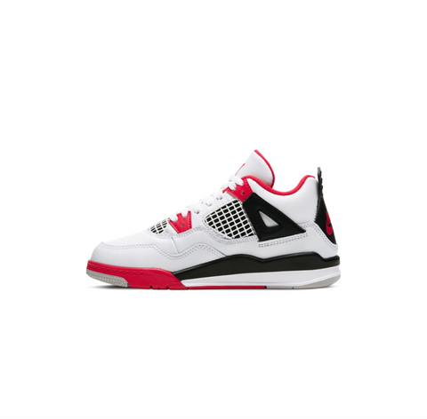 JORDAN 4 RETRO PS - WHITE/FIRE RED-BLACK-TECH GREY
