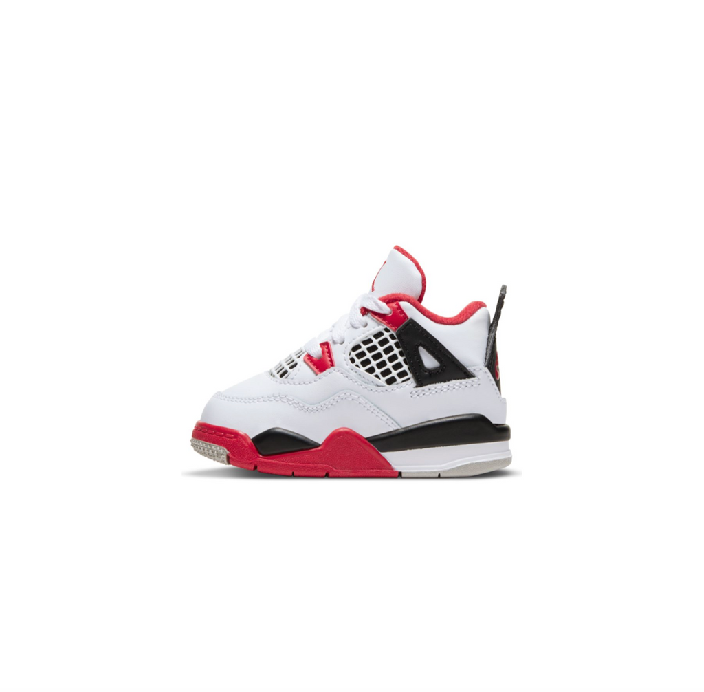 AIR JORDAN 4 RETRO TD - WHITE/FIRE RED-BLACK-TECH GREY