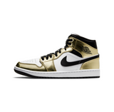 AIR JORDAN 1 MID SE - METALLIC GOLD/ BLACK-WHITE-BLACK