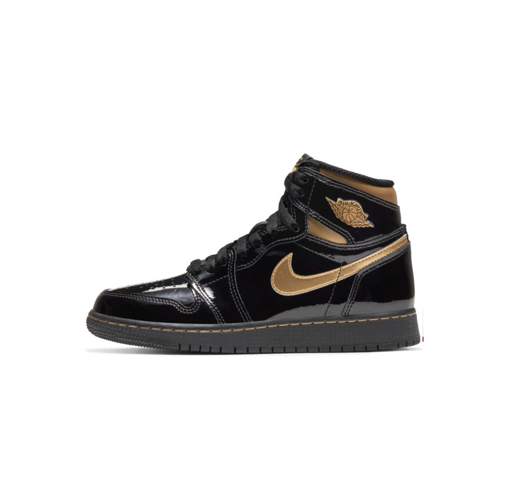 AIR JORDAN 1 RETRO HIGH OG GS -  BLACK/METALLIC GOLD