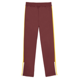 PALM ANGELS COLLEGE SLIM TRACK PANTS -  BURGUNDY/ GREEN