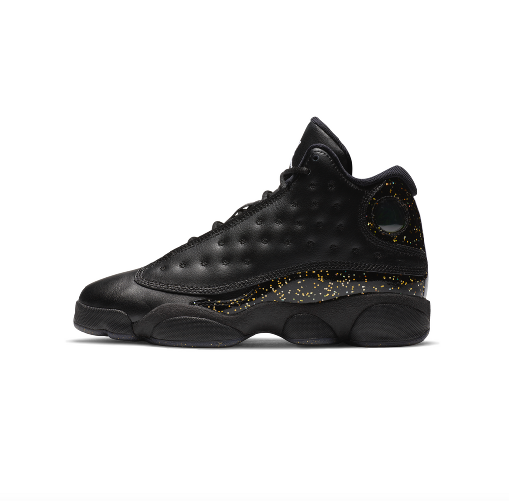 AIR JORDAN 13 RETRO GS - BLACK/METALLIC GOLD