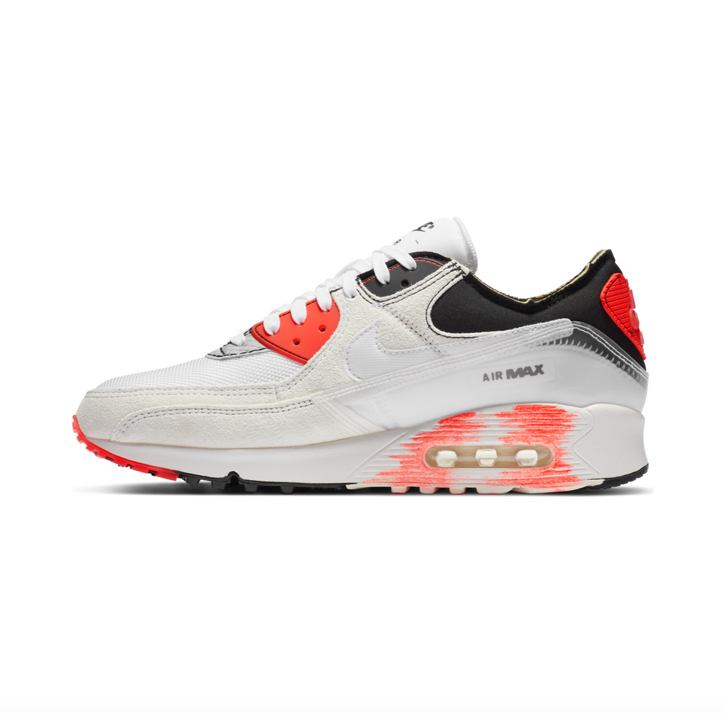 NIKE AIR MAX III PREMIUM - WHITE/WHITE-BLACK-BRIGHT CRIMSON