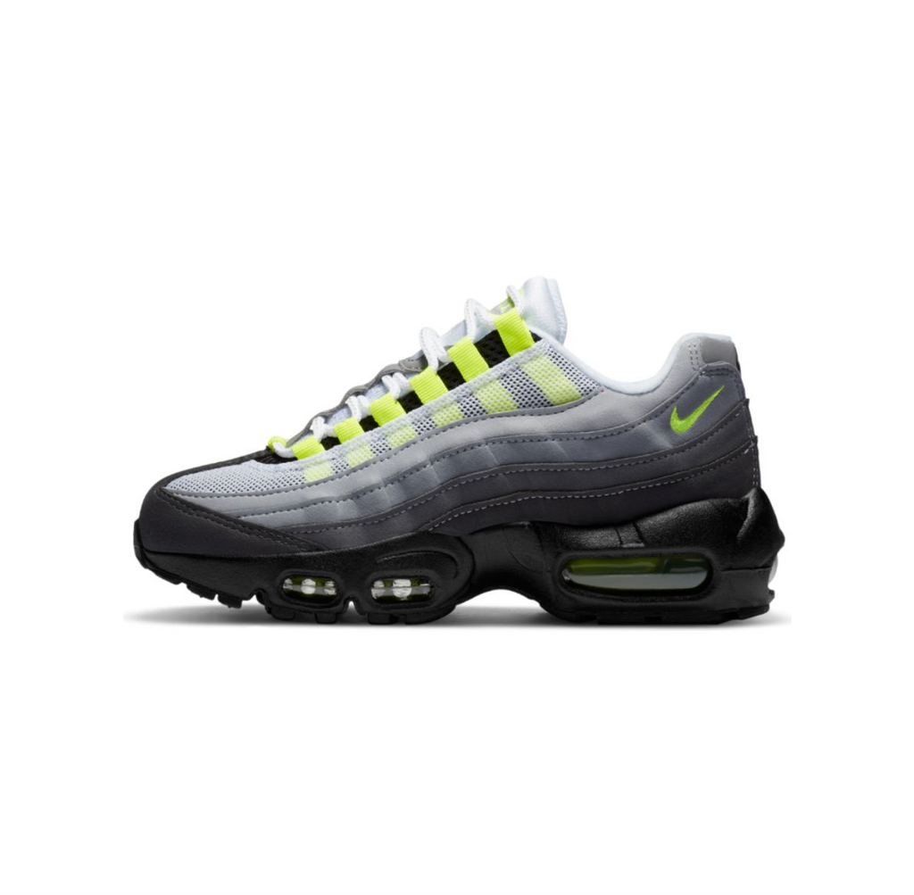 NIKE AIR MAX 95 OG GS - BLACK/NEON YELLOW-LT GRAPHITE