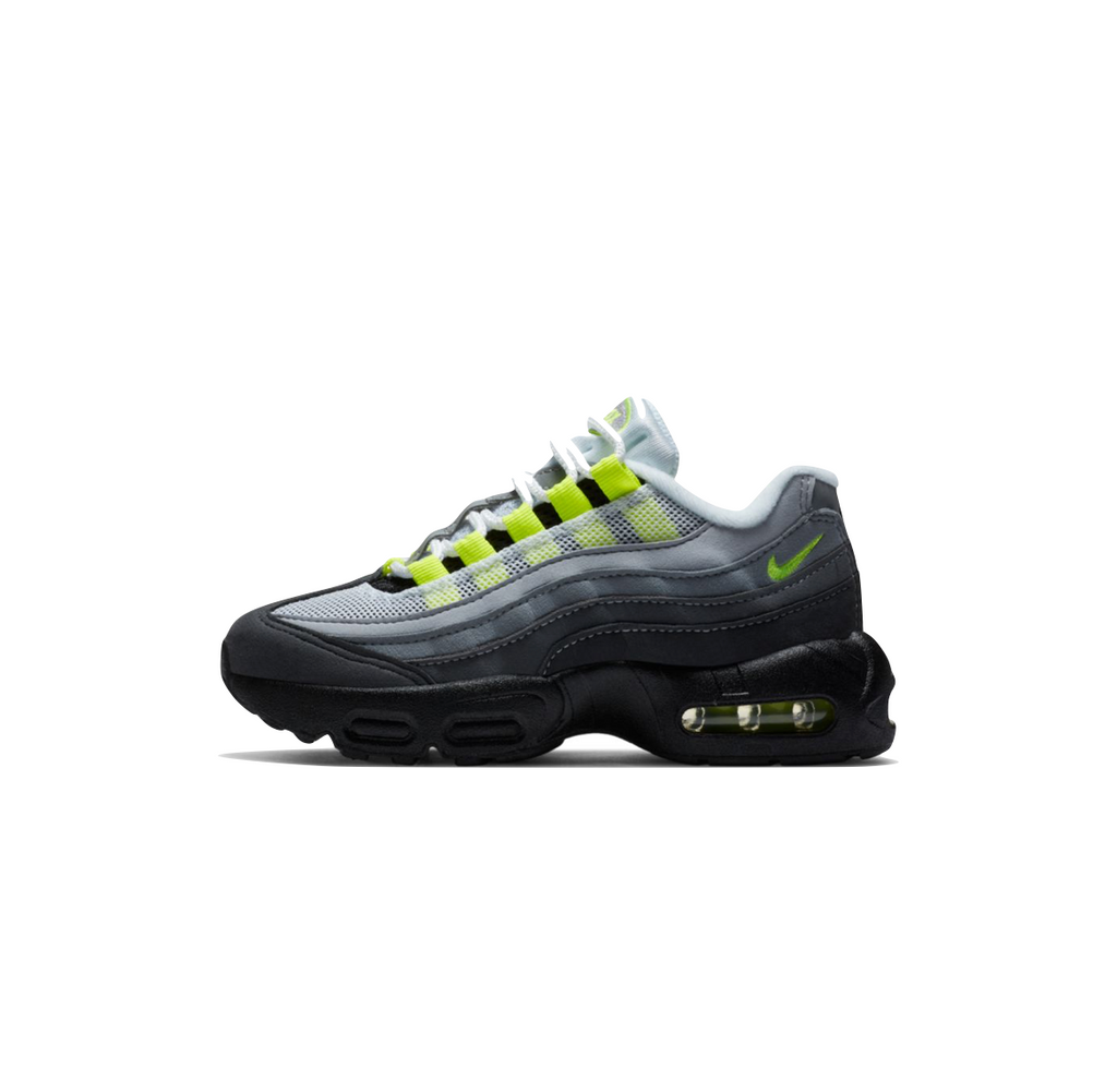 NIKE AIR MAX 95 OG PS - BLACK/NEON YELLOW-LT GRAPHITE