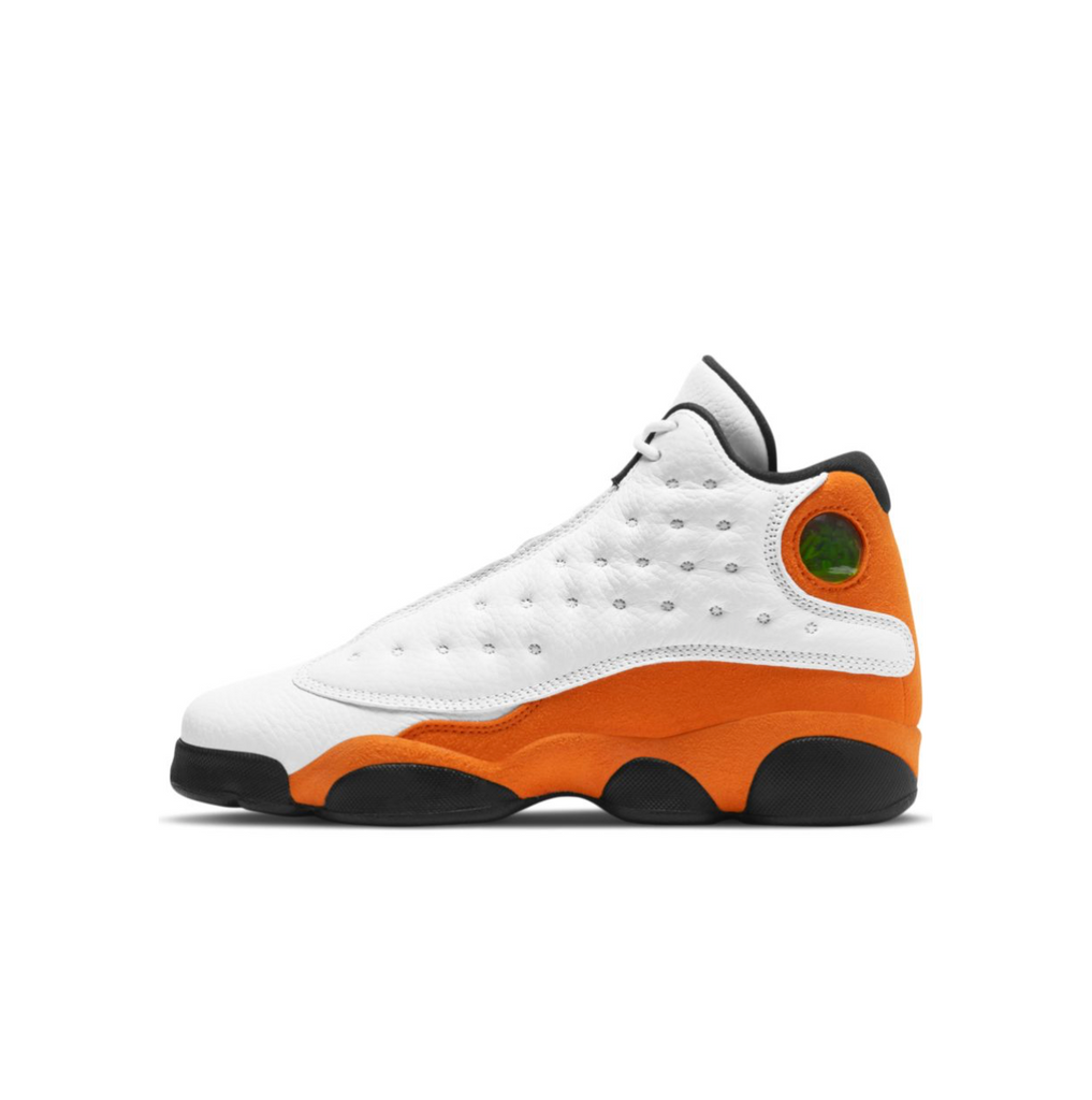 AIR JORDAN 13 RETRO GS - WHITE/STARFISH-BLACK