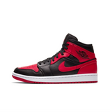 AIR JORDAN 1 MID - BLACK/GYM RED-WHITE