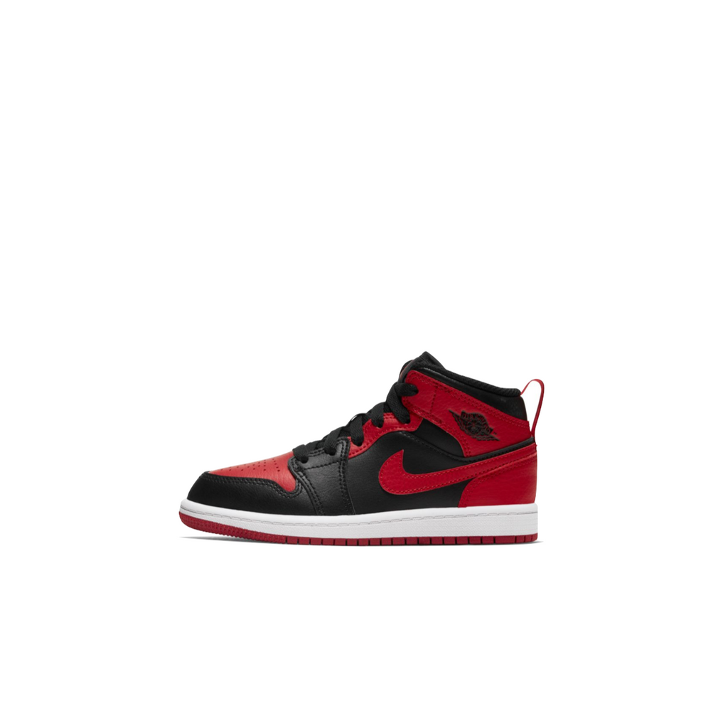 AIR JORDAN 1 MID PS - BLACK/GYM RED-WHITE