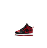 AIR JORDAN 1 MID TD - BLACK/GYM RED-WHITE