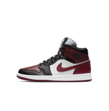 WOMEN'S AIR JORDAN 1 MID SE - BLACK/DARK BEETROOT-WHITE