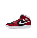 WOMEN'S AIR JORDAN 1 MID - GYM RED/WHITE-BLACK