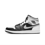 AIR JORDAN 1 MID - BLACK/WHITE-LT SMOKE GREY