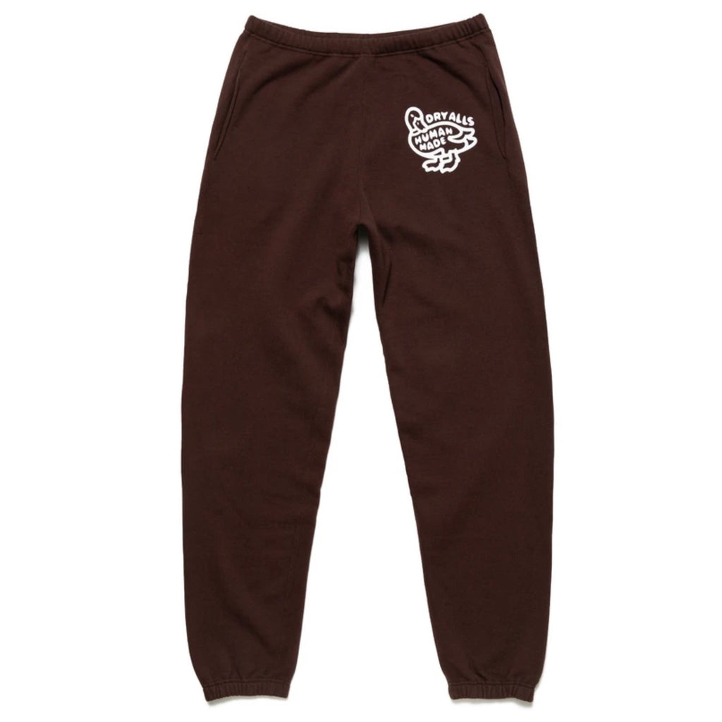 HUMAN MADE SWEAT PANTS - BROWN