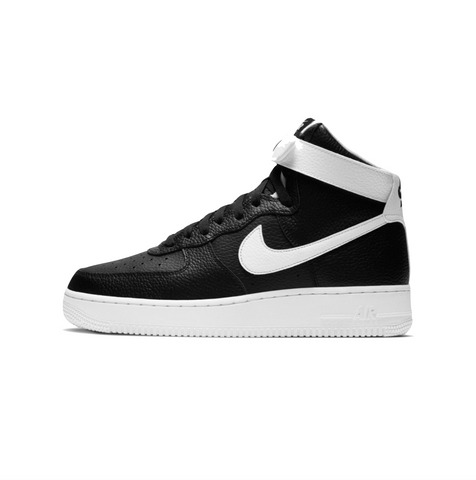 NIKE AIR FORCE 1 '07 HIGH -  BLACK/WHITE