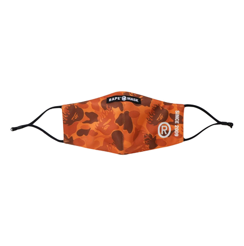 BAPE FIRE CAMO MASK - ORANGE