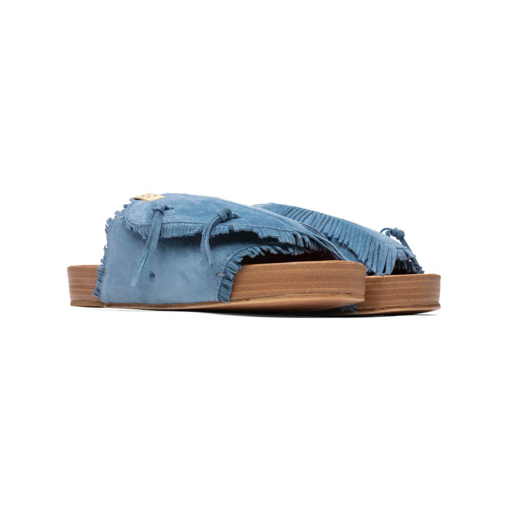 VISVIM CHRISTO SHAMAN-FOLK - BLUE
