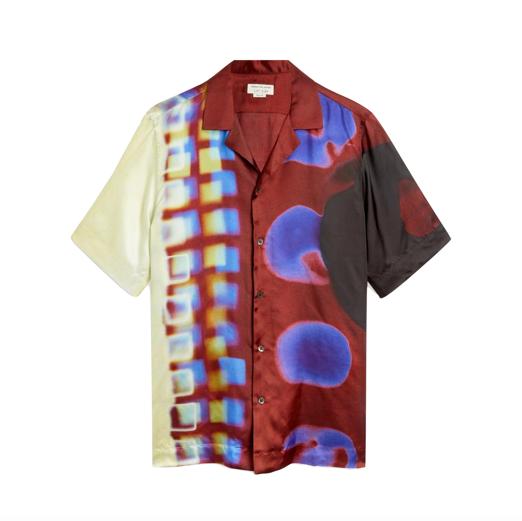 DRIES VAN NOTEN CARLTONE 2068 M.W.SHIRT - BURGUNDY