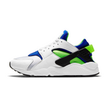 NIKE AIR HUARACHE - WHITE/SCREAM GREEN-ROYAL BLUE