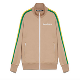 PALM ANGELS EXODUS CLASSIC TRACK JACKET - NOUGAT/WHITE