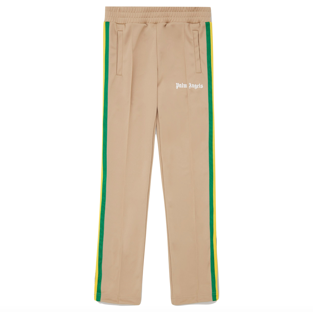 PALM ANGELS EXODUS CLASSIC TRACK PANTS -  NOUGAT/ WHITE