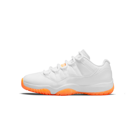 WOMEN'S AIR JORDAN 11 RETRO LOW - WHITE/BRIGHT CITRUS