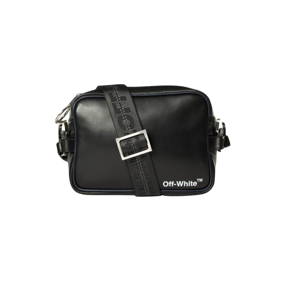 LEATHER CROSSBODY - BLACK/ WHITE