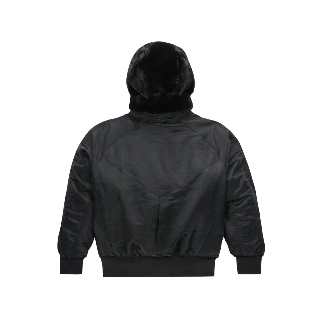 AIR JORDAN WOMEN'S REVERSIBLE BOMBER JACKET - BLACK