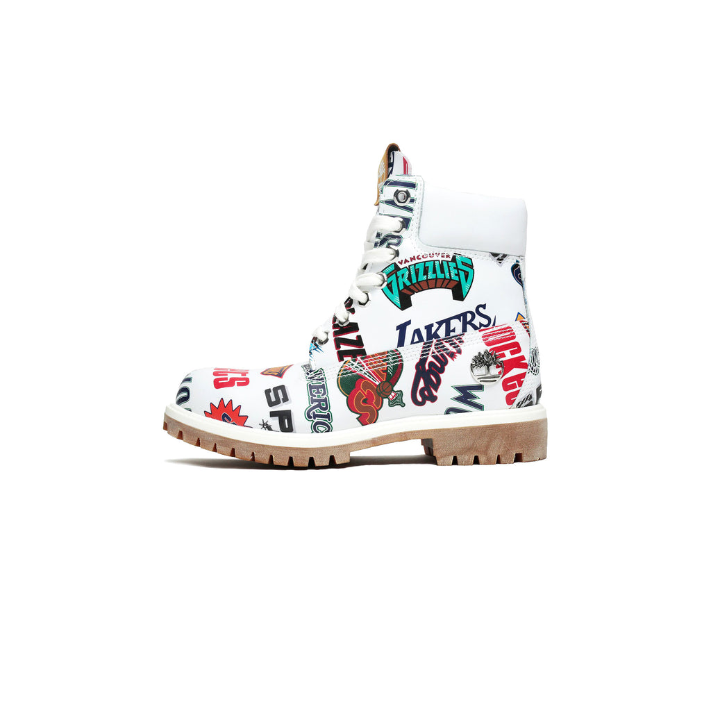 "TIMBERLAND X MITCHELL & NESS X NMB 6"" PREMIUM BOOT - WHITE/ MULTI COLOR"