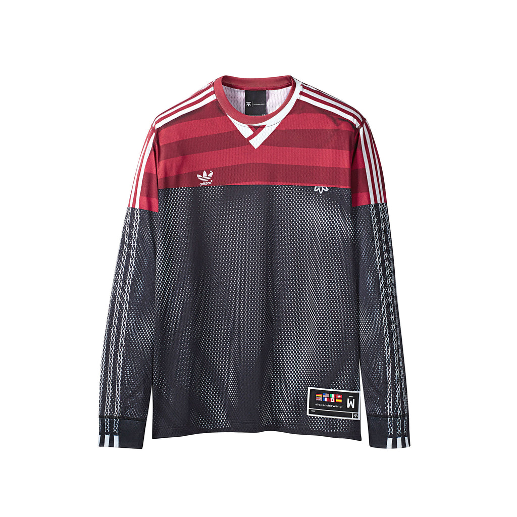 ADIDAS ORIGINALS x AW PHOTOCOPY LONGSLEEVE - BLACK/ FOX BROWN