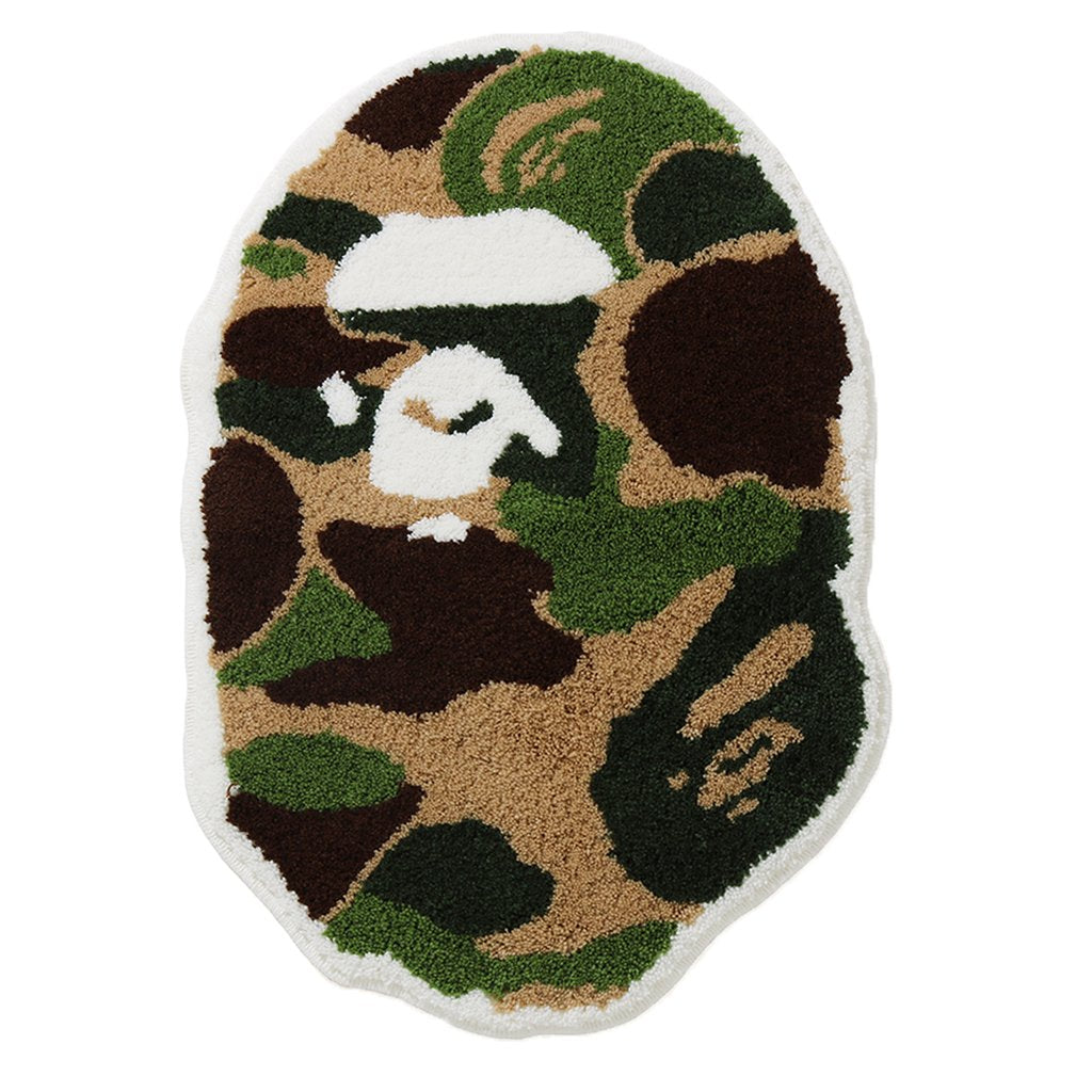 BAPE ABC CAMO APE HEAD RUG MAT - GREEN