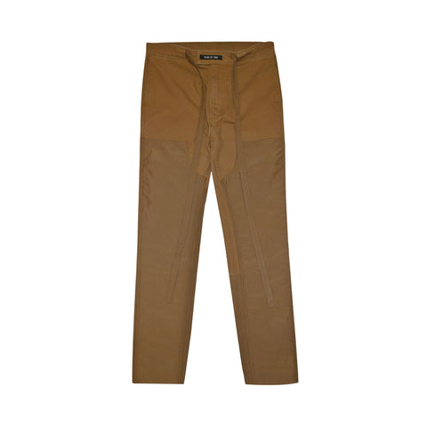 6TH COLLECTION NYLON CANVAS DOUBLE FRONT WORK PANT  - RUST