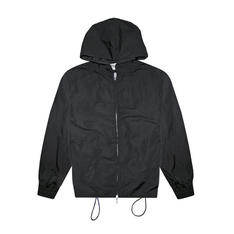 6TH COLLECTION NYLON FULL ZIP HOODIE - BLACK