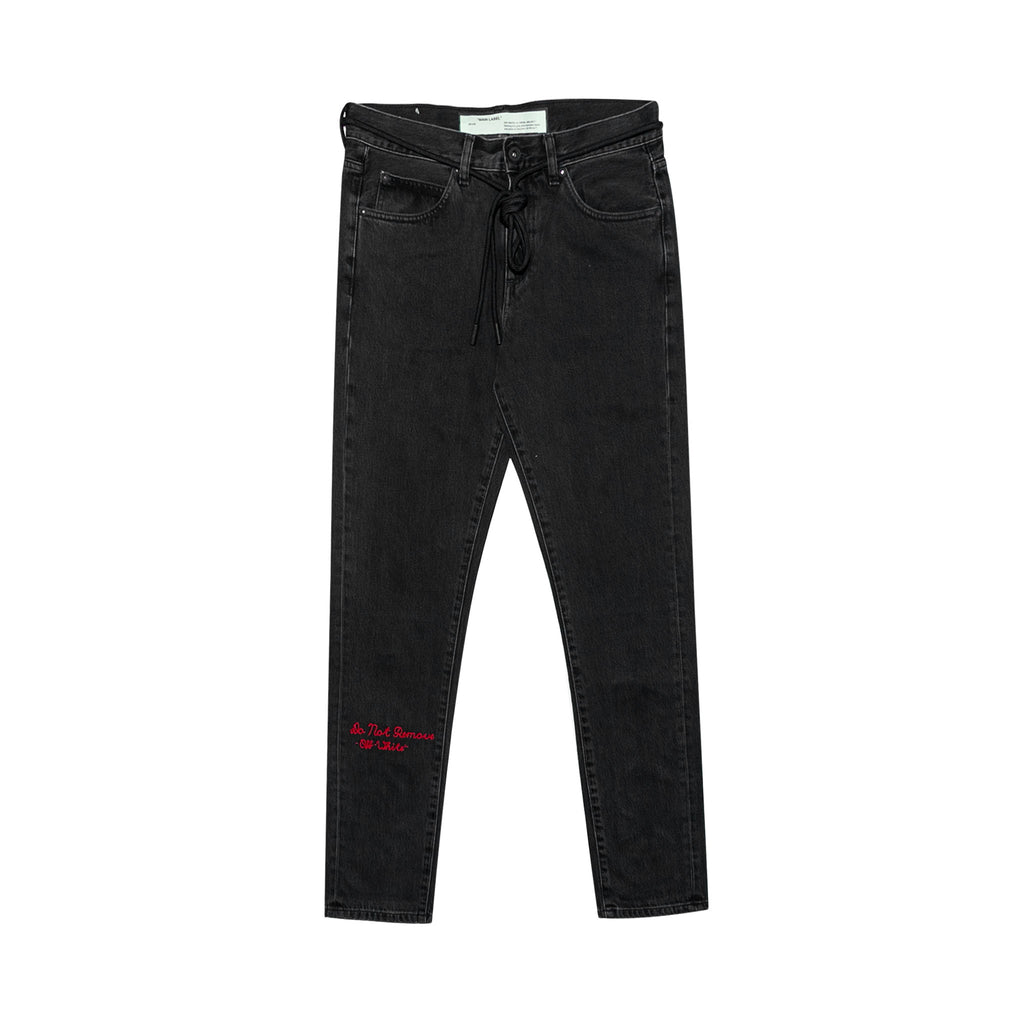 CHECKER SLIM 5 POCKET DENIM - BLACK