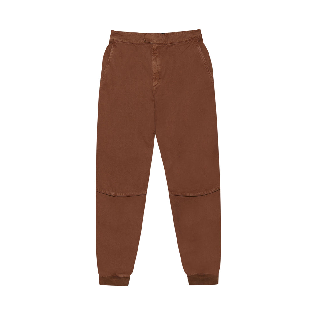 COTTON MOTO JOGGER PANT - BURNT SIENNA