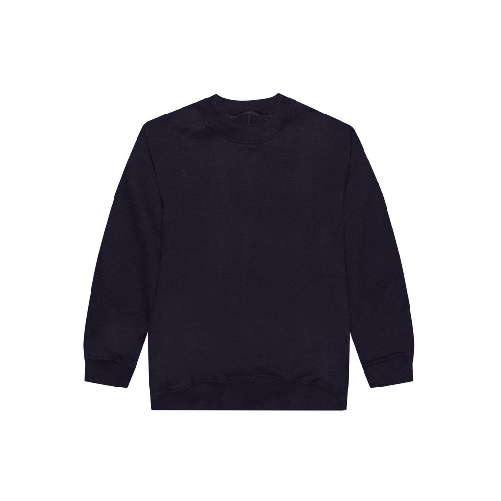 5TH COLLECTION HEAVY TERRY CREWNECK SWEAT SHIRT - NAVY