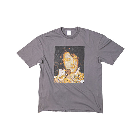 ELVIS PORTRAIT SHORT SLEEVE TEE - FADED BLACK