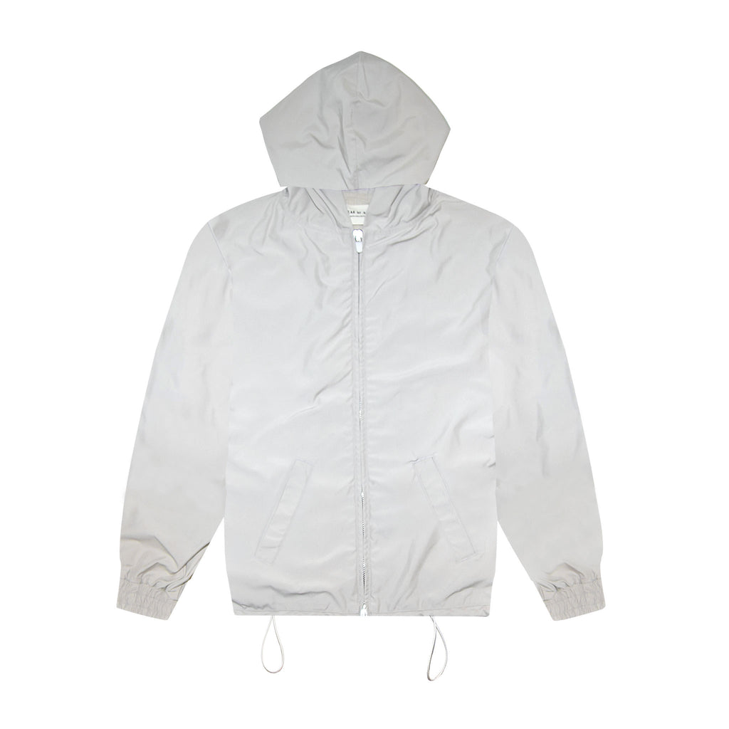 6TH COLLECTION NYLON FULL ZIP HOODIE - BONE