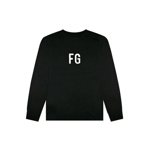 6TH COLLECTION LONG SLEEVE 'FG' TEE - VINTAGE BLACK