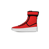 FEAR OF GOD MILITARY SNEAKER - RED/ BLACK NYLON