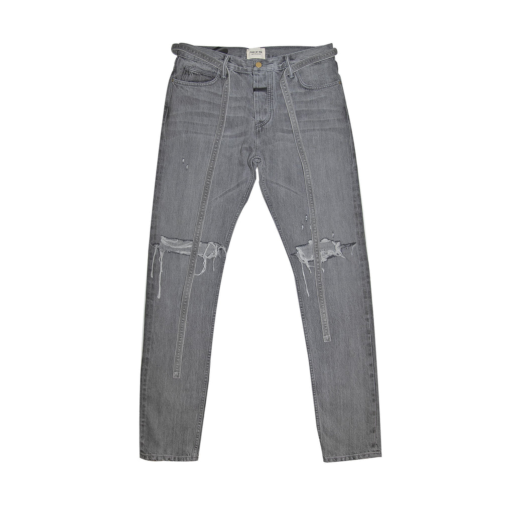 6TH COLLECTION SLIM DENIM JEAN - GOD GREY DENIM